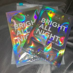🆕 TULA set of 2 Bright All Night face sheet masks